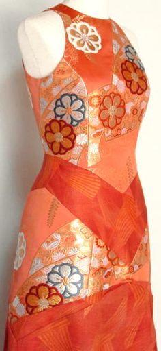 Princess seams, mixed fabrics.