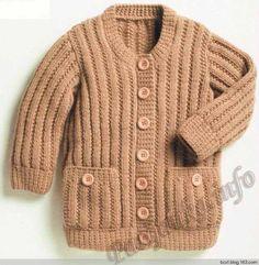 保暖小开衫 - 编织幸福 - 编织幸福的博客 Cape Coat, Coat Patterns, Jacket Pattern, Knit Jacket, Vintage Knitting, Rubrics, Free Pattern, Windbreaker, Men Sweater