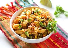 This Taco Pasta Salad is a cold Southwest pasta salad recipe filled with black beans, corn, cilantro, avocados, and tomatoes. It's tossed in a vinaigrette and sprinkled with cheese. I love taking this Taco Pasta Potluck Salad, Tacos, Cold Pasta, Pasta Salad Recipes, Summer Salads, Pasta Dishes, Pasta Food, Spicy Pasta, Corn Dishes