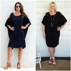 If the little black dress is not your thing then this little navy dress from Australian label Surafina might be. Shown here on the model and on me. Mature Fashion, Navy Dress, Shirt Dress, Model, Summer, Shirts, Outfits, Shopping, Black