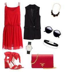 """""""Untitled #13"""" by serena-balzano on Polyvore featuring Forever 21, Jimmy Choo, Prada and Miss Selfridge"""