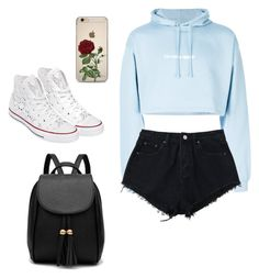 """""""Outfit 1"""" by avrose14 ❤ liked on Polyvore featuring F.A.M.T. and Converse"""