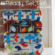 Adorable fabric for a little guy!  Ready, Set, Go! by Ann Kelle
