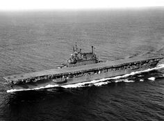 September 13, 1945: USS Enterprise CV-6 on sea trials following repairs at Puget Sound Naval Shipyard.