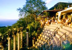 Hotel Villa Caletas, Costa Rica. The hotel is a French built Neo Classical beauty, set upon a cliff like some precious jewel enjoying the spectacular sight of the Pacific Ocean and the Gulf of Nicoya.