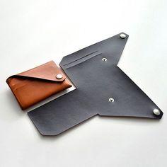 Lemur Leder Brieftasche Origami-Stil Wallet - Tricot et crochet -