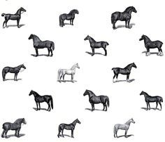 Horses fabric by victoriagolden on Spoonflower - custom fabric