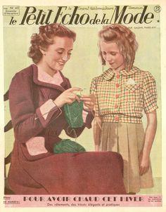 Mode Crochet, Knit Crochet, Vintage Knitting, Antique Art, Knitting Yarn, Ephemera, 1940s, Disney Characters, Fictional Characters