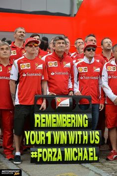 """remembering your 1st win with us"" #ForzaMichael #Ferrari 11-5-2014 # GP Spain sunday"