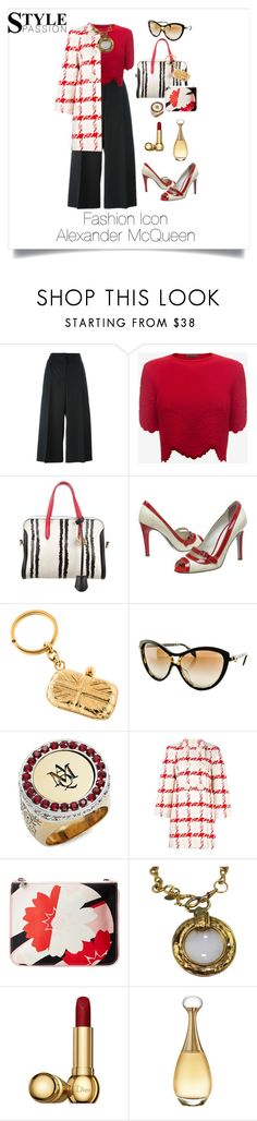 """""""Alexander McQueen"""" by shamrockclover ❤ liked on Polyvore featuring Alexander McQueen, D&G, Chanel and Christian Dior"""