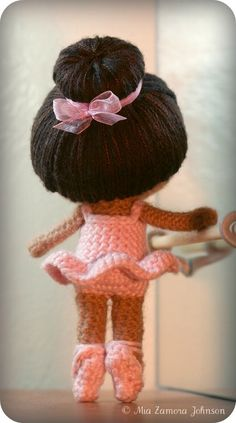 Brisa the Ballerina Amigurumi Doll crochet pattern $6.50 on Ravelry at http://www.ravelry.com/patterns/library/brisa-the-ballerina-amigurumi-pattern