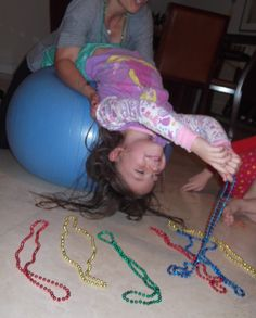 Core strengthening for kids...This blog has a ton of awesome OT ideas!!!