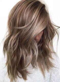 Brunette With Blonde Highlights, Brown Blonde Hair, Light Brown Hair, Icy Blonde, Copper Blonde, Blonde Color, Blonde Wig, Color Highlights, Gray Color