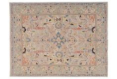 """8'x12' Gallina Rug, Multi on OKL ($1,199 v. $4,800 retail) Origin: China Construction: handmade Made of: wool Pile height: 1/8"""" Color: multi Care: Professionally clean. """"Add well-traveled style to your decor with this rug boasting exotic motifs. Handmade from plush wool, it will be a stunning addition to your home for years to come. To any design-industry aficionado or insider, """"Stark"""" is synonymous with luxurious, long-lasting, rugs, furniture, fabrics, and wallpaper."""""""