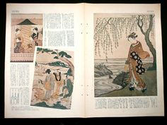 Japanese Print Woman and Water on Ukiyoe by VintageFromJapan, $12.00