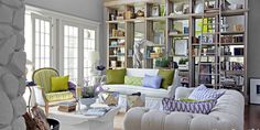 LOVE this bookcase and shelves!