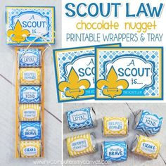 cub scouts Need a fun way to encourage your Cub Scouts to learn the Scout Law? This NUGGET WRAPPER printable is perfect. it encourages the boys to memorize the law and reinforces key pri Cub Scout Law, Tiger Scouts, Cub Scouts, My Canvas, Learning Activities, Cub Scout Activities, Craft Stores, Blue Gold, Banquet