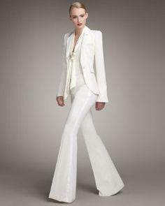 Love tuxedos for women.  Rachel Zoe.