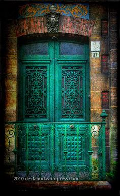 Green Door - Number 27 - Honfleur, Normandy, France