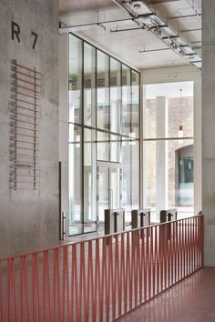 London firm Duggan Morris Architects has completed an office building in London, featuring an aluminium facade in this year& trendiest colour Exterior Handrail, Staircase Railings, Stairs, Banisters, Staircases, Modern Exterior, Interior And Exterior, Interior Design, Architecture Office
