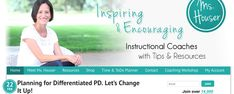Website with useful templates, discussions to support project work in coaching/mentoring teachers