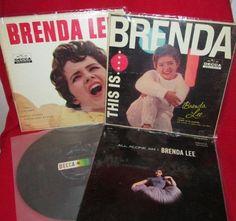 Brenda Lee Vintage Albums Group of Four Brenda Lee, Used Vinyl, Best Graphics, Lps, Albums, Baseball Cards, Group, Cover, Vintage