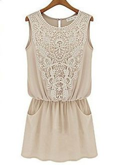 cute tan dress with detailing - love this with leggings!