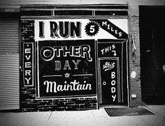 i run 5 miles...