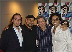 Con Peter, José Nogueras y Mikie.
