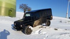 Der dicke im Schnee Defender 110, Vehicles, Car, Snow, Automobile, Rolling Stock, Vehicle, Cars