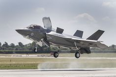 The RAF's new fighter jets have finally takes to the skies after being grounded by bad weather Military Jets, Military Aircraft, F35 Lightning, Strait Of Hormuz, Massive Attack, Aircraft Design, Nose Art, Royal Air Force, Speed Boats