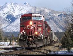 Net Photo: CP 9640 Canadian Pacific Railway GE at Banff, Alberta, Canada by J. Banff Alberta, Alberta Canada, Canadian Pacific Railway, Choo Choo Train, Diesel Locomotive, Diesel Engine, Short Skirts, Wonders Of The World, Michigan