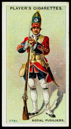 Cigarette Card - Royal Fusiliers, 1751