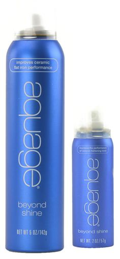 Aquage Beyond Shine.  A trick I learned from an Aquage educator a long time ago...spray each section before you flat iron for smooth, shiny hair.  This product seals the cuticle like none other.