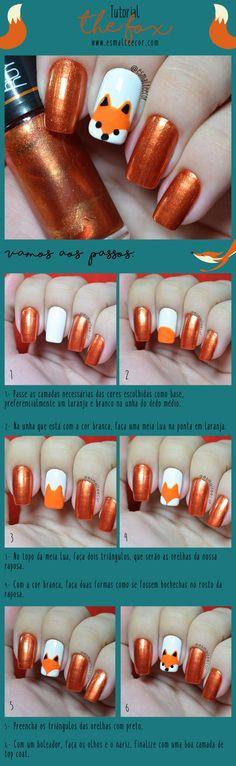 tutorial nail art unha decorada passo a passo