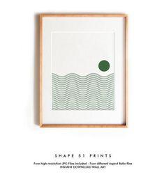 Green Canvas Art, Green Wall Art, Green Art, Abstract Landscape, Abstract Art, Diy Artwork, Geometric Wall Art, Minimalist Art, Printable Wall Art