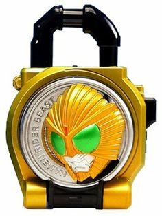 Amazon.com: Bandai Kamen Rider Gaim Sound Lock Seed Series Lock Seeds Band-Aid 2 Beast Lock Seed: Toys & Games