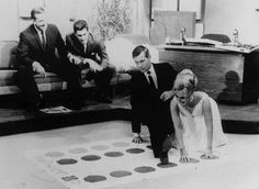In 1965, the virtually unknown game, Twister, made it's debut on the Johnny Carson Show, where Johnny and his guest that evening, Eva Gabor, demonstrated how to play, while bringing the audience to hysterics.