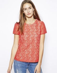 Image 1 ofOasis Lace Back Top