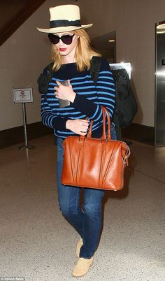 Travelling forward: On Saturday, the actress was spotted leaving Los Angeles LAX airport. Joan Holloway, 40 Years Old, Old Actress, Christina Hendricks, Mad Men, Travelling, Celebrity Style, Actresses, Celebrities