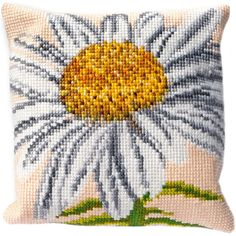 """Marguerite Cushion Tapestry Kit-15.75""""X15.75"""" Stitched In Floss"""