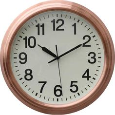 Accent the living room or foyer with this stylish wall clock, showcasing a metal frame in a brown finish. Product: Wall clock