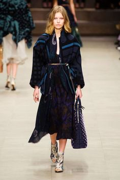 Has to be my Fave designer; from the Burberry Prorsum's autumn/winter 2014 show, via vogue.co.uk obviously the gypsy inspired show edition