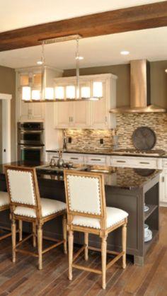 Cream cabinets kitchen