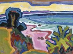Karl Schmidt-Rottluff; Ostseebucht, a.k.a The Baltic Sea Bay. (It looks like my dear Manzanita Beach in Oregon.)