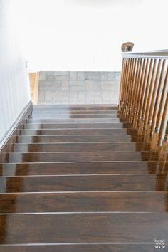 How to stain and polyurethane staircase steps