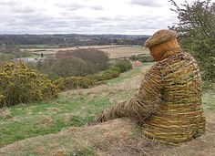 This wonderful woven willow giant sits on the bank at the northern end of the Woodland Trust's Low Burnhall wood near Durham city.