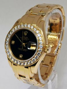 657cc5c017a Rolex Pearlmaster Diamond Bezel Dial 18k Yellow Gold Ladies Watch  rolex   ladieswatches