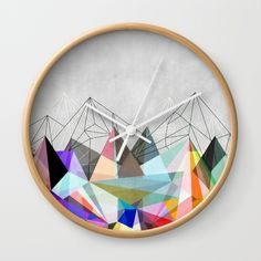 Colorflash 3 Wall Clock by Mareike Böhmer. Worldwide shipping available at Society6.com. Just one of millions of high quality products available.