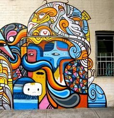 The best street art from around the world. Fresh graffiti works of art. The best art from 2013.